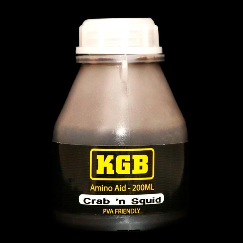 KGB Baits Amino Aid Crab 'n Squid PVA friendly 200 ml
